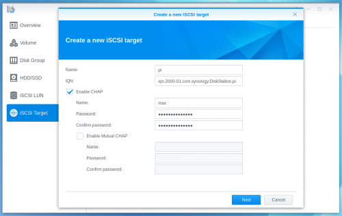 Storing your files on a Synology NAS (using iSCSI) [BerryTerminal]